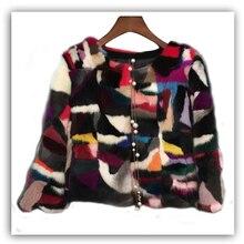 Daisy & Na Winter Mink Fur Vogue Jacket Coat 100% Genuine Outwear Garment Women Warm 217