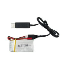 With USB cable charger 7.4V 1500Mah 25C Lipo Battery For WLtoys V913 Q212G V912 V262 L959 L979 JST plug For RC Helicopter Drone