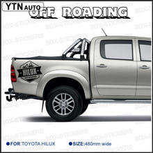 2 PC free shipping REAR STICKER hilux off road DECAL FOR  TOYOTA HILUX decals badges detailing sticker with KK SIGN VINYLS все цены