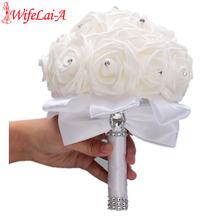 В наличии чистый белый искусственный пенопласт свадебный букет