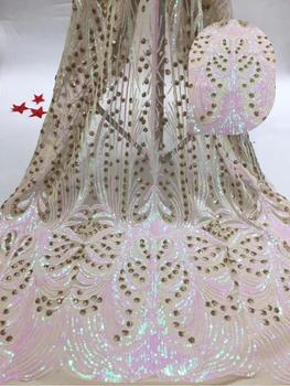 Newest design ZH-74710 fashionable tulle embroidery french net lace fabric