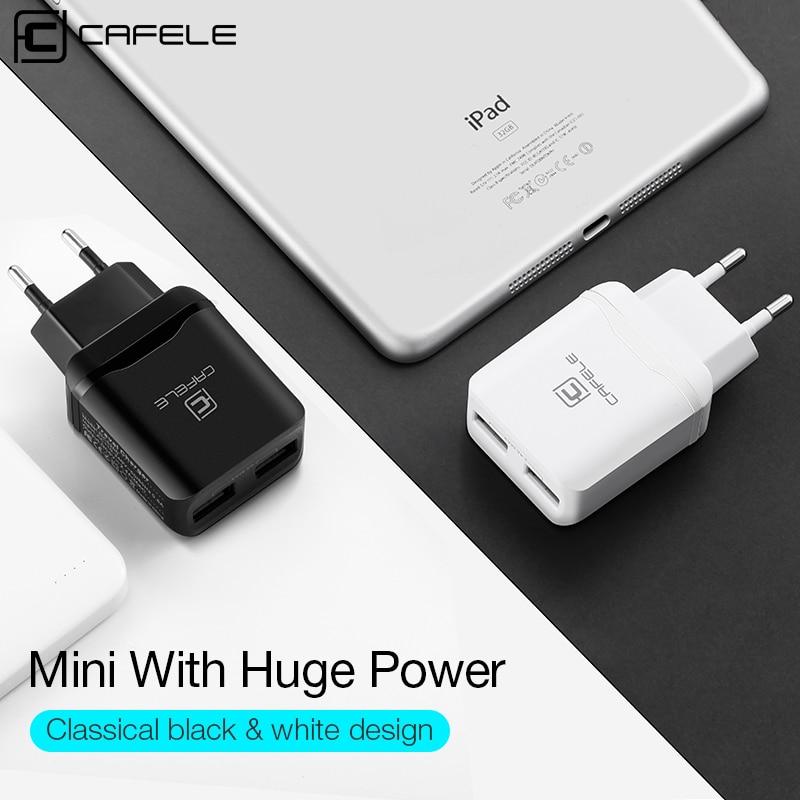 CAFELE Travel USB UE Ładowarka Wtyczka 2.4A Podwójne wyjście - Części i akcesoria do telefonów komórkowych i smartfonów - Zdjęcie 2