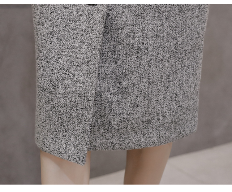 Neophil High Waist Woolen Button Pencil Midi Skirts Office Ladies Office Elegant Grey 19 Winter Wool Wrap Skirts Faldas S1738 18