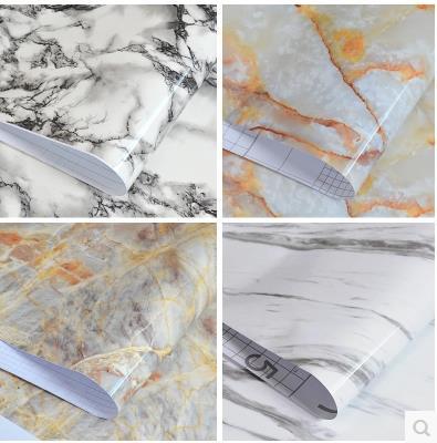 Papier peint collant de coffret étanche armoire foyer meubles surface Boeing film marbre papier peint rénové-181z
