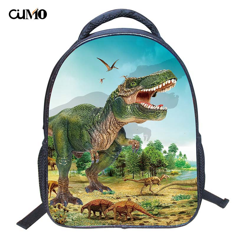 Ou Mo brand dinosaur Print High capacity travel Boys/Girls child Schoolbag Mini Backpack Kids Kindergarten Children School Bag