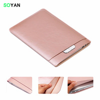 Business Waterproof Microfiber Leather Laptop Sleeve Case Double Deck Protective Bag Cover For Apple MacBook Pro