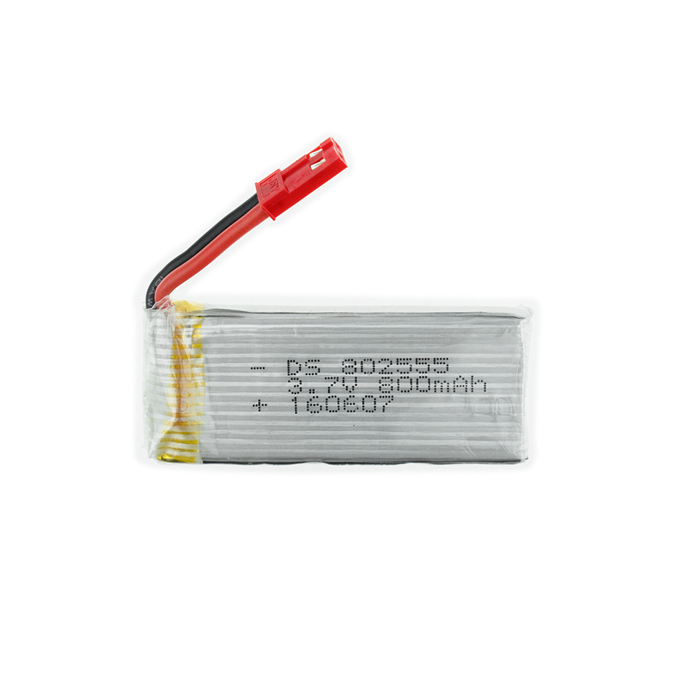 <font><b>3.7V</b></font> <font><b>800mah</b></font> 25C <font><b>lipo</b></font> <font><b>battery</b></font> 802555 Jst plug For TK110HW JRC H12C H12W JXD 509 509W 509G RC Drone Quadcopter parts image
