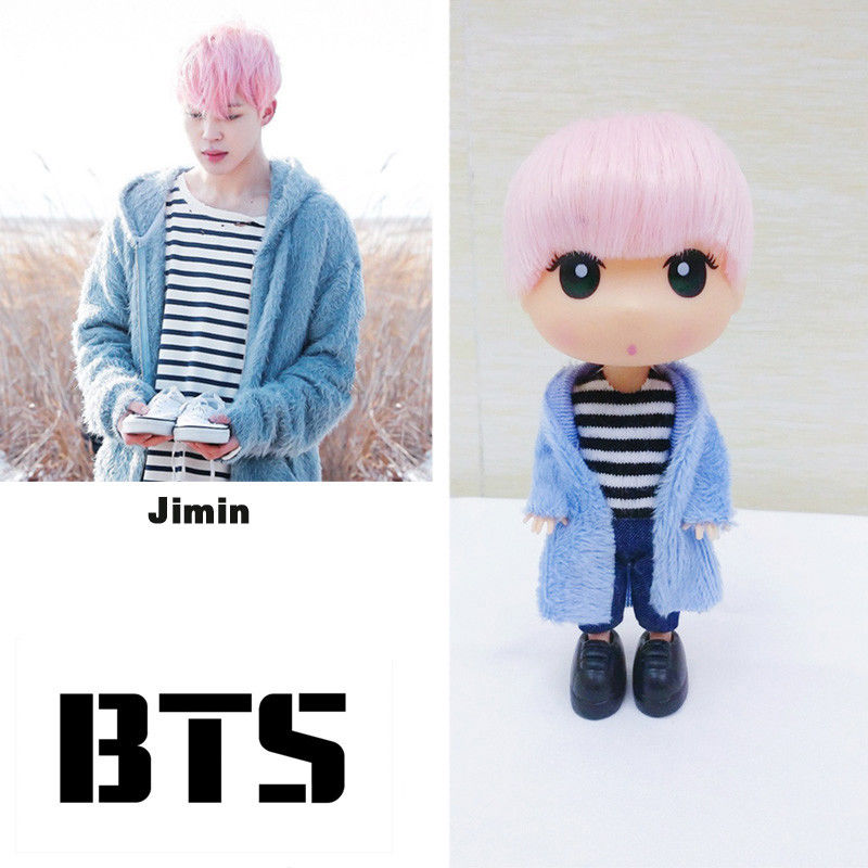 KPOP BTS Love Yourself Jimin Doll Bangtan Boys 13cm/5 Mini Figure Model Toy Fans Gift Collection [mykpop]bts bangtan boys love yourself to tears mug coffee water milk ceramic cup creative kpop fans collection sa18061017