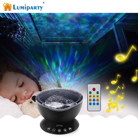 Ocean Wave Music Projector LED Night Light Soothing Wave LED Ceiling Light Lamp With Speaker And