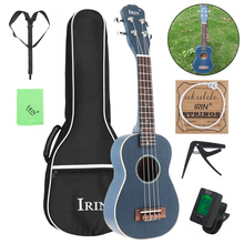 21 Inch Soprano Ukulele Spruce Wood 15 Fret Four Strings Guitar + Bag Tuner Capo Strap Cloth