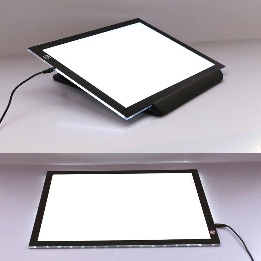 A3 Portable LED Planche à Dessin Vue-protégé Tactile Dimmable Tableau Traçage Lumière Pad Boîte avec Clip pour 2D Animation croquis