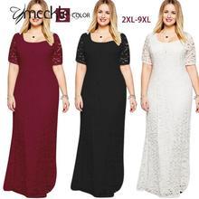 Big Size 6XL 7XL 8XL 9XL Women s Full Lace Long font b Maxi b font