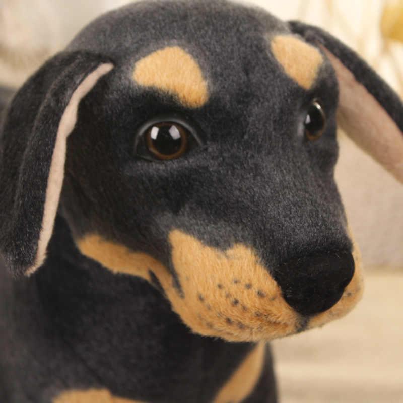 70 cm Kawaii Super Big Size Stuffed Plush Brinquedos Do Cão Crianças Enorme Da Vida Real Preto Stuffed Animal Plush Dolls Boa presentes de qualidade Quente