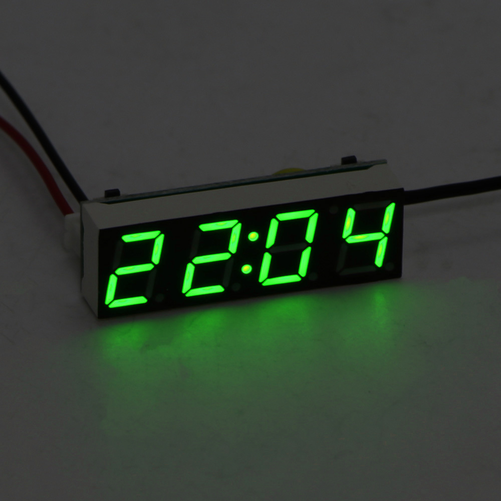 Adroit Car Electric Clock Digital Timer Led Temperature Auto Replacement Parts Thermometer Voltmeter Led Display Green Blue Red Light Good For Antipyretic And Throat Soother