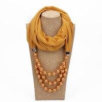 Chất Lượng cao Trân multilayer khăn vòng cổ 14 màu sắc Voan Hồi Giáo Hijab Scarf Shawl Head Bọc Lụa Mong Đồng Bằng Rắn Màu
