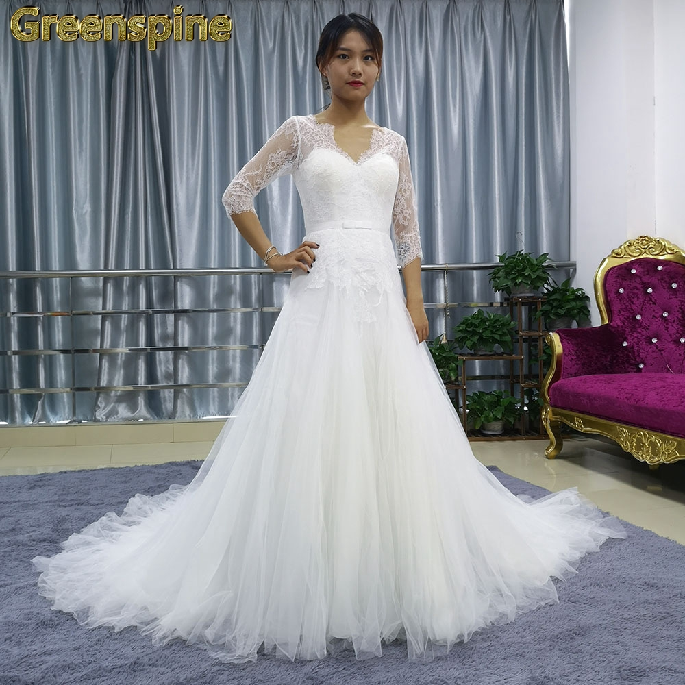 Clearance Sale Wedding Dresses Tulle Lace Bride Dresses