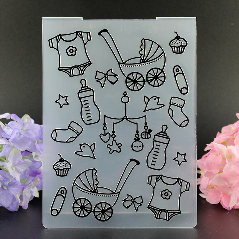 Baby Garment Toy pattern embossing folder plastic dies scrapbook stencils for diy paper card making craft envelop decor gift box