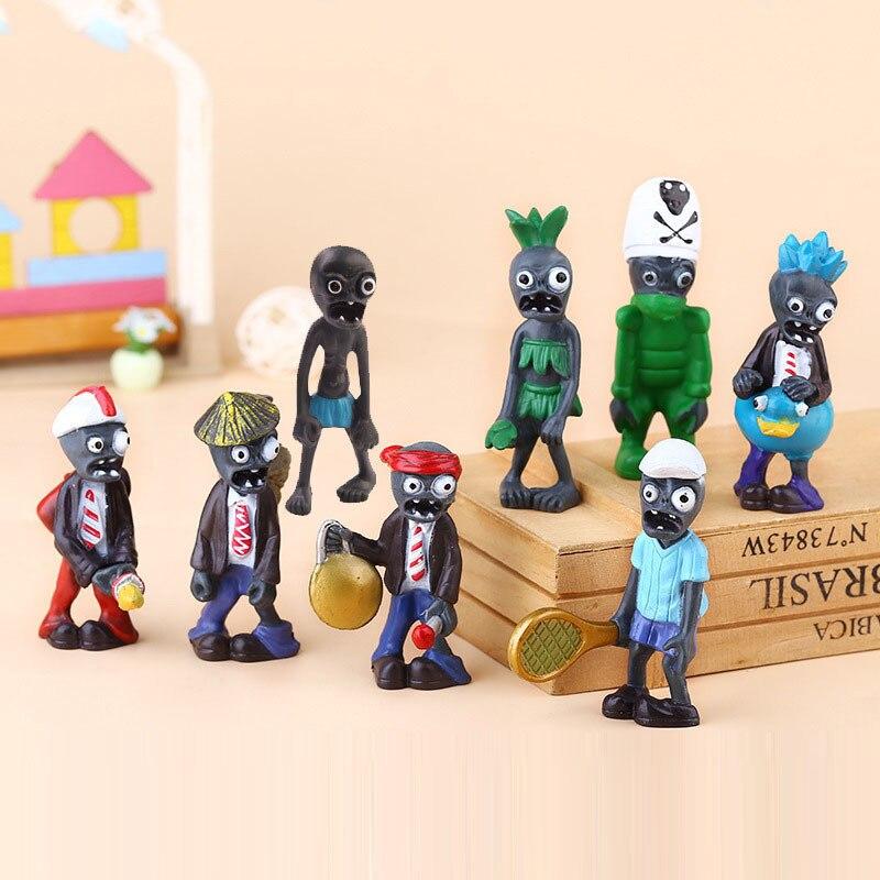 8pcs New Popular Game PVZ Plants vs Zombies Peashooter PVC Action Figure Model Toys Plants Vs Zombies Brinquedos Kids Gifts Doll