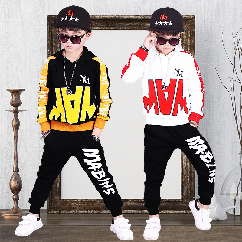 Baby Boys Hip Hop Clothing 2018 New Autumn Kids Children Sets Boy Color Fashion Two-piece White Black Hip-hop Dance Suit new fashion children kids hip hop snapback hat character novelty eye design fitted boy girl baseball cap brand baby casquette