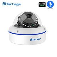 Techage H.265 Security POE IP Camera 2MP Vandalproof Indoor Dome CCTV Camera Microphone P2P Video Surveillance ONVIF 48V PoE