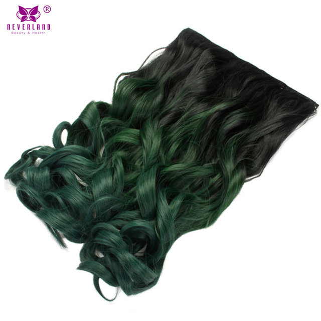 Neverland 20 synthetic wavy ombre color hair extension 5clips neverland 20 synthetic wavy ombre color hair extension 5clips clip in hairpiece heat pmusecretfo Image collections