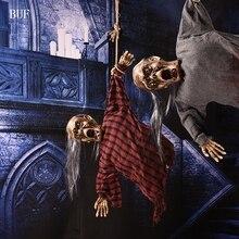 Buf Хэллоуин висячие украшения электрический призрак Творческий Хэллоуин украшения страшно ужас призраки с Сенсор свет