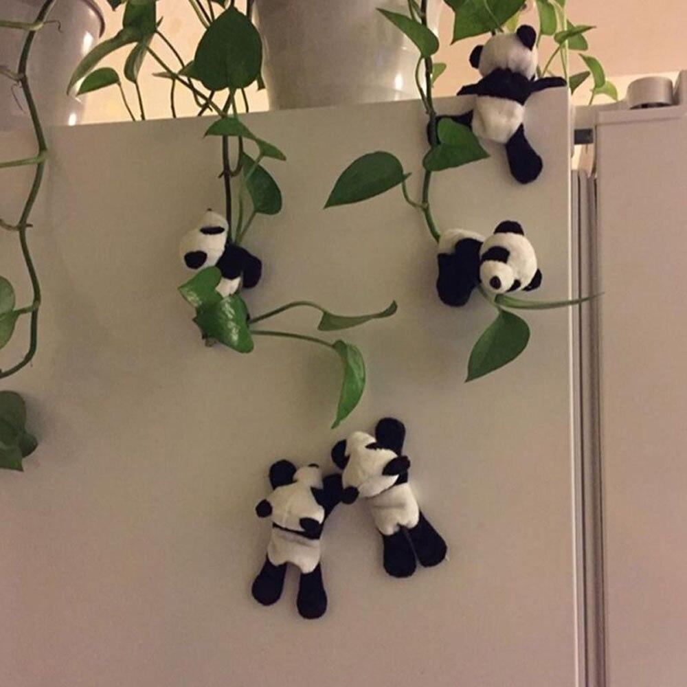 1Pc Cute Soft Plush Panda Fridge Magnet Refrigerator Sticker Gift Souvenir Decoration Lovely Practical Home Crafts A60