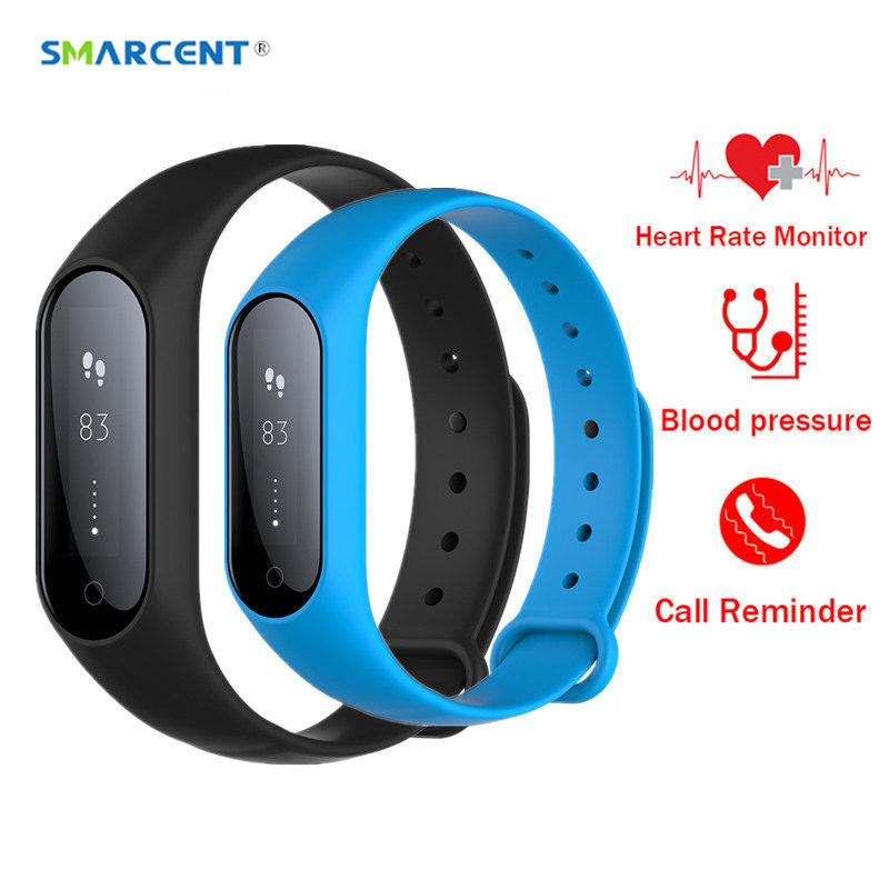 SMARCENT Y2 Plus Heart Rate Smart Band Watch Bluetooth Blood Pressure Monitor Smartband Bracelet Fitness Tracker