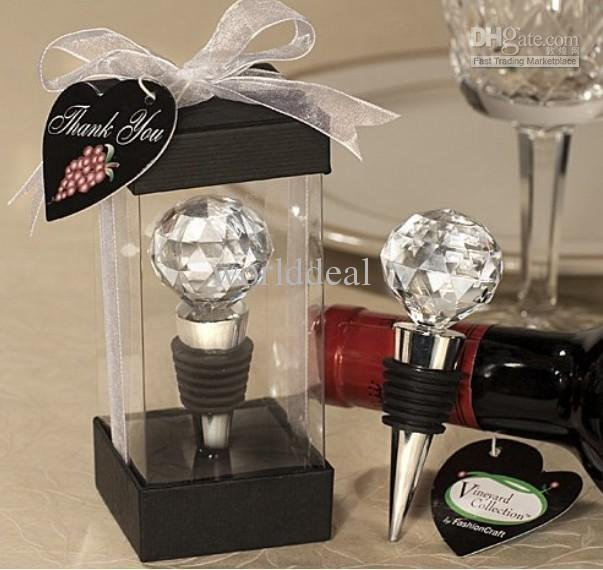 Crystal Ball Wine Bottle Plug for Wedding Gift/Bottle Stopper/2011 Hot party