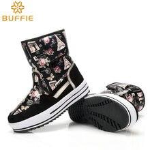 Девушки бренд снегоступы холодная зима сапоги цветок непромокаемую обувь леди мода обувь теплые натуральной шерсти высокого качества пряжки сапоги