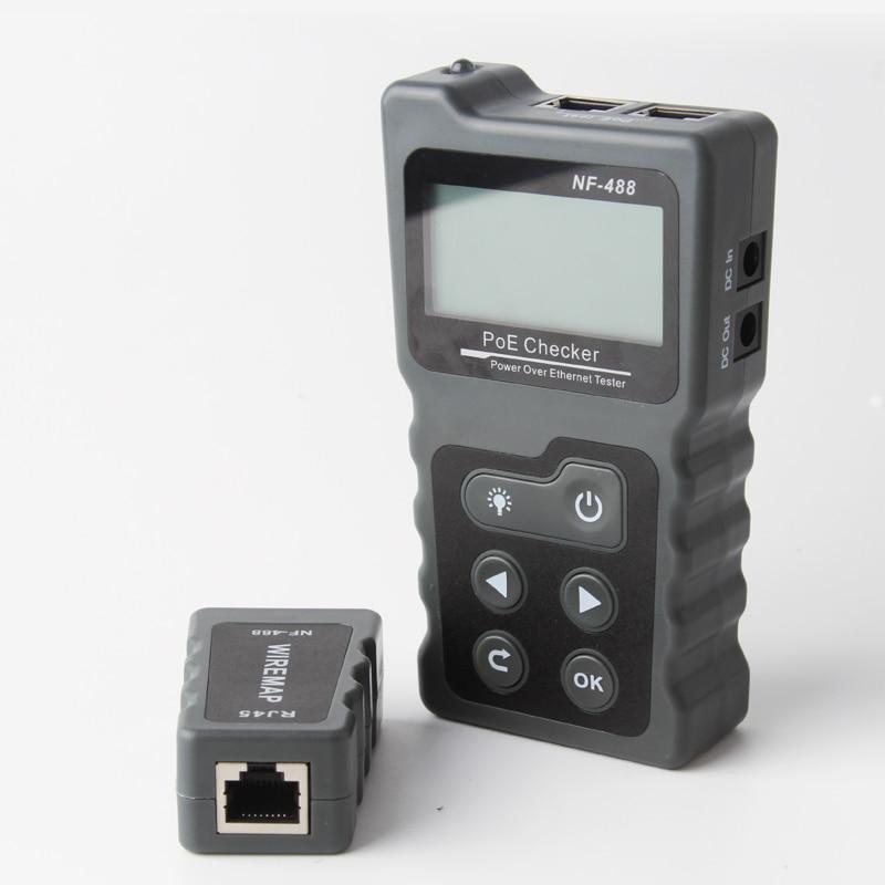 Il trasporto libero 2019 Nuovo Arrivo NOYAFA NF-488 di Rete PoE Tester checker Sopra il Ethernet cat5, cat6 Lan tester strumenti di rete