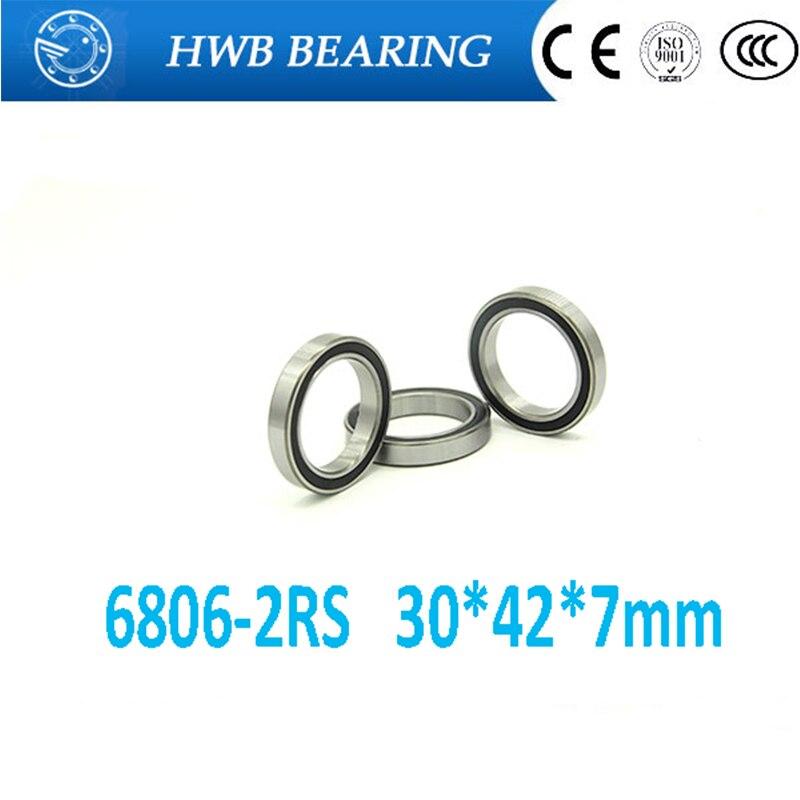 High Quality 6806 2rs Abec 1 10pcs 30x42x7 Metric Thin