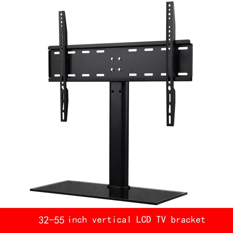 VESA standard 32-55 inch move up or down PC Monitor LCD TV bracket vertical Toughened glass base stent vesa standard 14 32 inch move up or down pc monitor plasma lcd tv bracket vertical toughened glass base stent