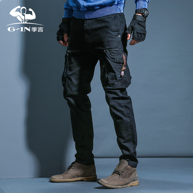 534b245e5c9 Tactical Pants Male Camo Jogger Casual Plus Size Cotton Trousers Multi  Pocket Military Style Army Camouflage