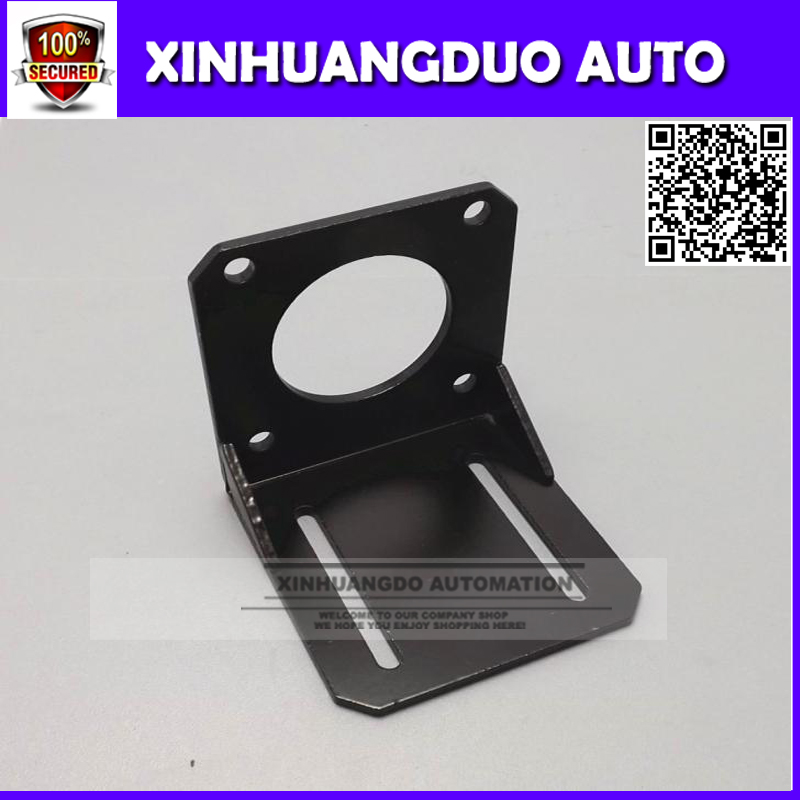 <font><b>Nema</b></font> <font><b>23</b></font> mounting L <font><b>bracket</b></font> 57 stepper motor fitted black alloy steel mounting <font><b>bracket</b></font> diy cnc parts L type 57 brackst 1pcs image
