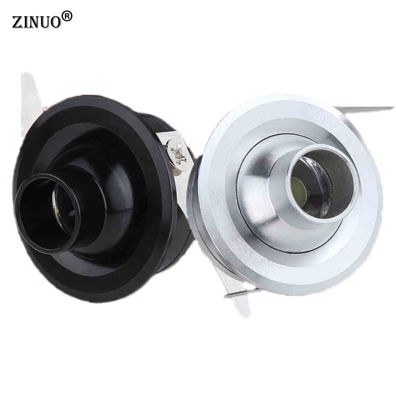 ZINUO 1W 3W Mini LED Spotlights Led Cabinet lights With Power Supply For showcase Small Display Counter AC85-265V