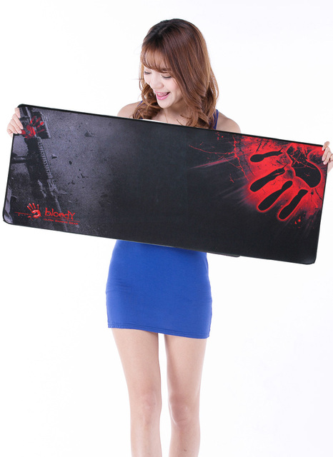 New Rubber Large XL 800*300*2mm Gaming Mouse Pad Laptop Keyboard Mat Stitched Edges