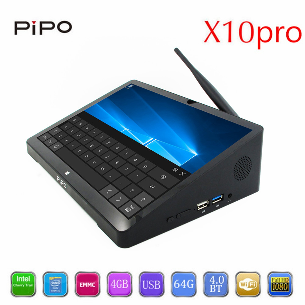 PiPo X10 Pro Mini PC TV Box + IPS Tablet PC Dual OS Android Windows 10 intel Z8350 Quad Core 10000mAh Bluetooth HDMI Minipc new 10 8 inch 1920 1280 pipo x10 mini pc windows 10 tv box z8300 quad core 4g ram 64g rom hdmi media box bluetooth win10
