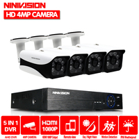 4CH AHD DVR NVR Kit 4MP CCTV System 3.6mm 6PCS Aarray LEDS 4.0MP HD Camera indoor Outdoor P2P Onvif Security Surveillance Set