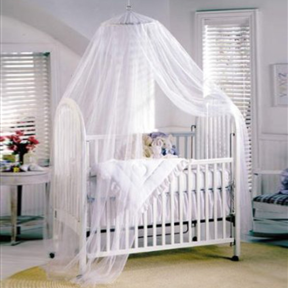 Baby bed holder - Baby Canopy Mosquito Net For Cot Kids Baby Bed Four Poster Crib Netting Hanging Dom