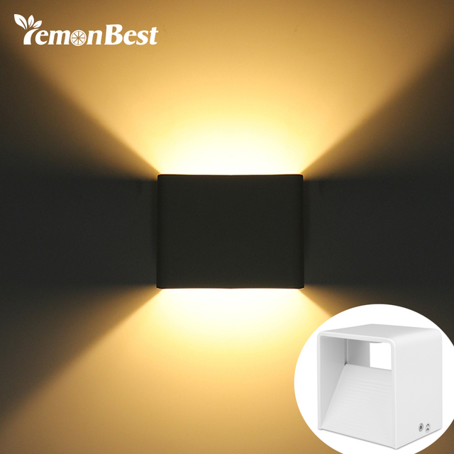 Modern Style 3W Aluminum Up and Down COB LED Wall Lamp Indoor ...