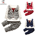 2016 Autumn Children Clothing Sets Long Sleeve Striped Shirt Top And Pants 2 Piece Fashion Boy Clothes Set Toddler Kids Costume