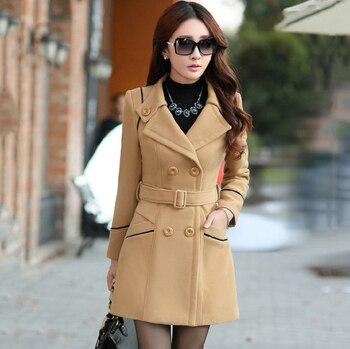 Spring New Women S Cashmere Coat Korean Style Fashion Designer Elegant Female Overcoat Mantle Cloak Kasmir Manteau Femme