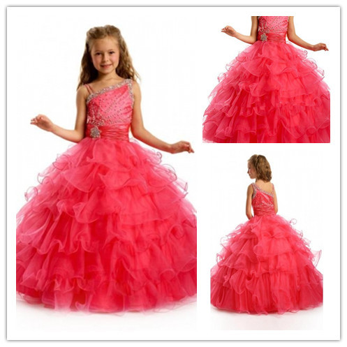 Hot Style Orgaza Wedding Girls Princess Dress Formal Dresses ...