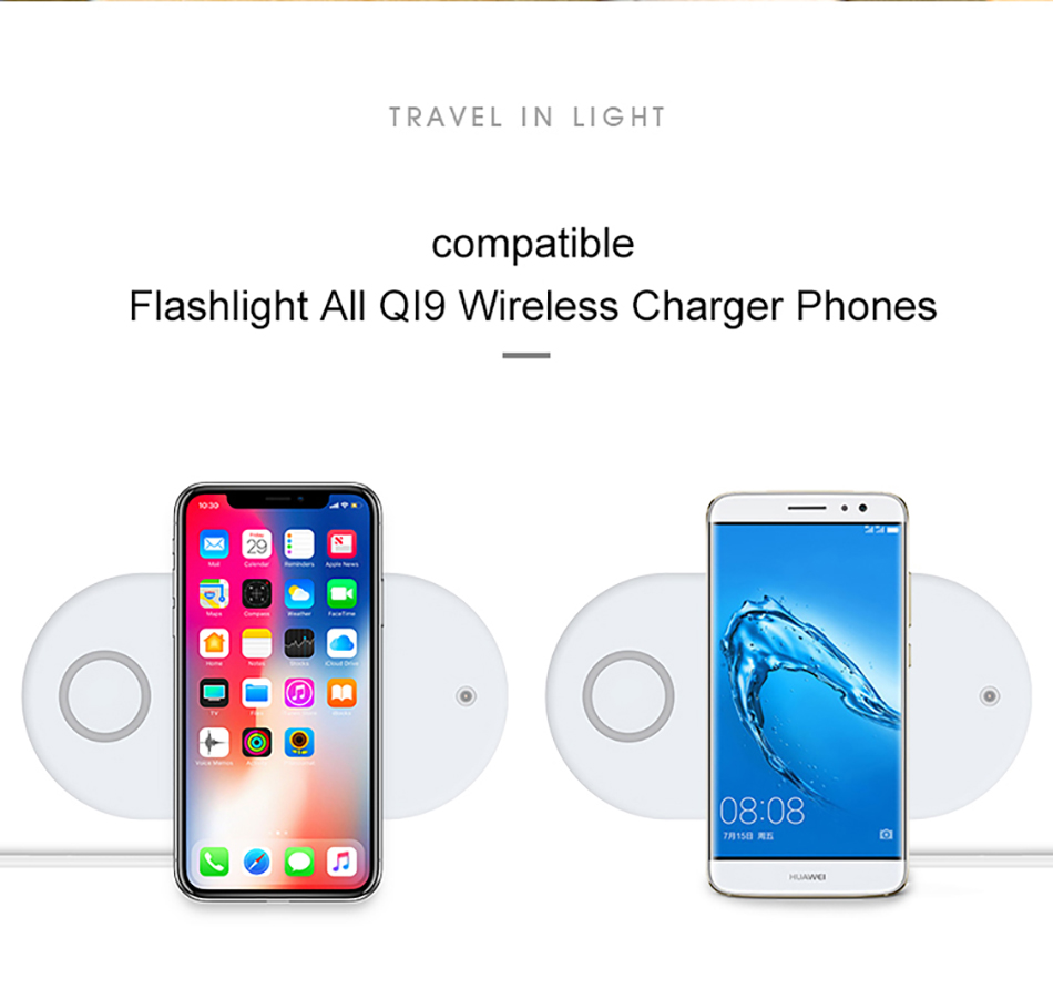 !ACCEZZ Qi Wireless Charger Fast Charging 3 in 1 For iPhone X XS Max 10W For Apple Watch Airpods USB Qi Charger Pad For Samsung (13)