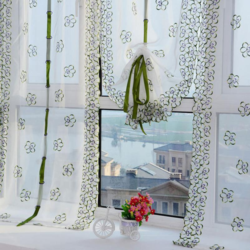 Delightful Aliexpress.com : Buy Curtains For Living Room Print Embroidery Roman Curtain  Voile Sheer Curtains For Bathroom Kitchen Balcony Blinds Living Room 1PC  From ...