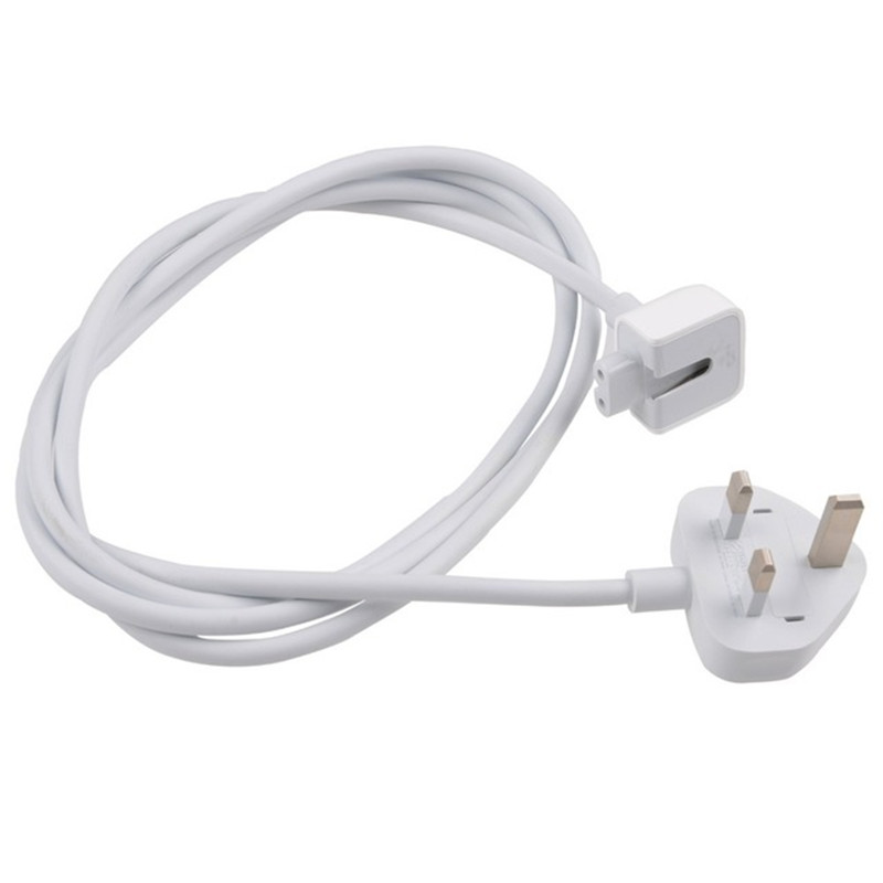 High Quality UK Plug 1.8M AC Power Adapter Extension Cord Cable For APPLE Macbook Pro Air MagSafe 45W 60W 85W Charger Adapter