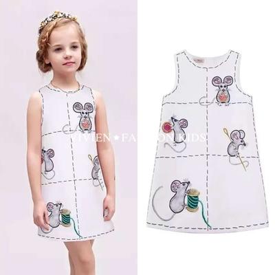 Dress Girl Dress 2016 Summer Style Sleeveless Printed Kids Dresses Girls Clothes Party Princess Dress Vestidos