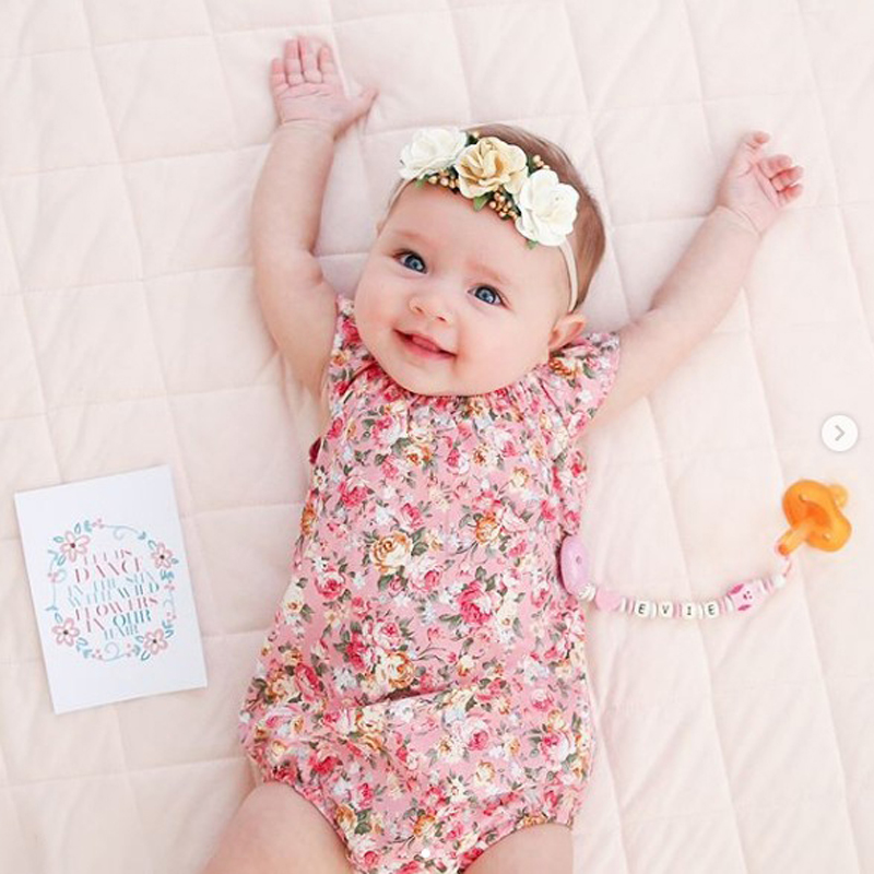 2018 New Baby Girls Romper Summer Romper Newborn Infant Baby Girls Floral Romper Jumpsuit Sunsuit Outfits Clothes 4-24M