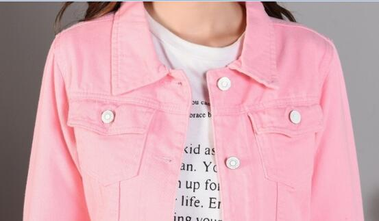 Chaqueta Jeans Denim red Verano De black lotus pink Cuello light Green Corto Slim Moda army 2019 Disponibles Colores Blue Primavera Otoño 8 Chaquetas dark Blue Pink Mujer White wInqACC